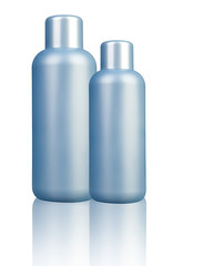 Plastic bottle on white