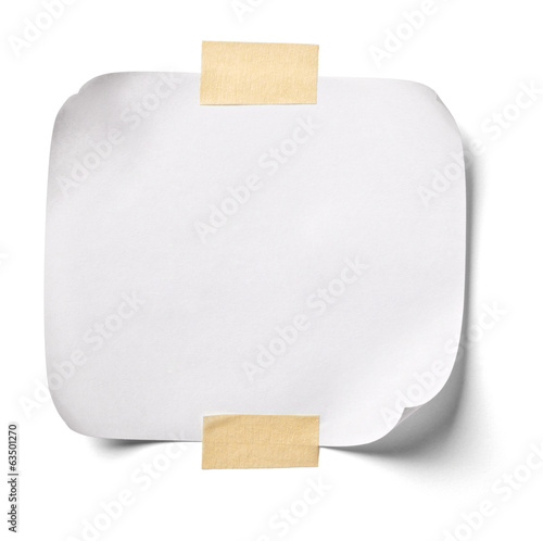 canvas print picture white note paper office business