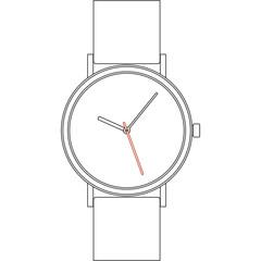 Wristwatch. Vector EPS8