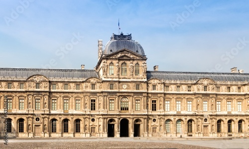 The main entrance of Louvre museum