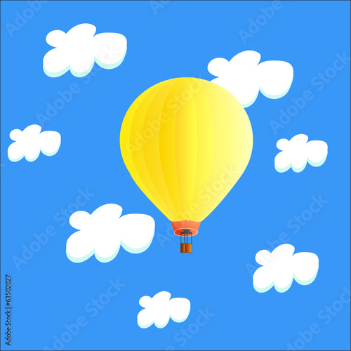 Air balloon in the clouds