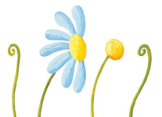 Blue flower and grass