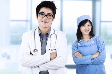 Confident young medical team 1