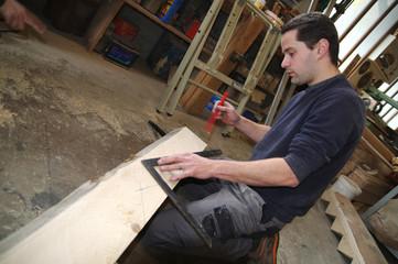 atelier de menuiserie - fabrication d'escalier