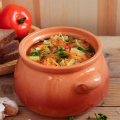 Russian cabbage soup - schi