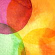 Abstract watercolor circle painted background