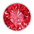 Ruby or Rodolite gemstone with shape. - 63503669