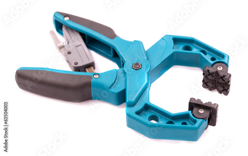 Industrial clamp isolated