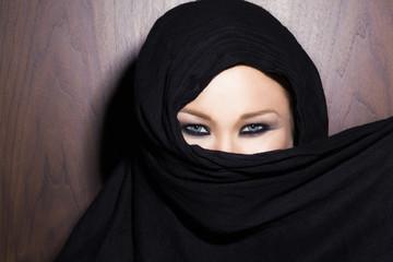 Hired behind a scarf iin Dubai