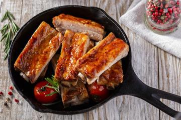 baked pork ribs