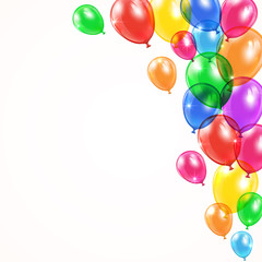 Background with shiny balloons
