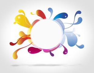 Cerchio astratto colorato da riempire