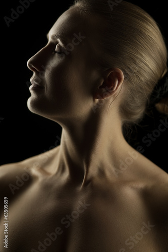 Artistic blond portrait