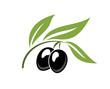 Two ripe black cartoon olives - 63506698