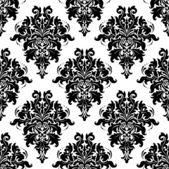 Ornate bold foliate seamless pattern