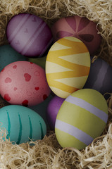 Decorated Nested Easter Eggs