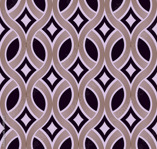 Abstract seamless plaiting lines vector wallpaper.