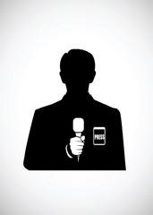 silhouette reporter
