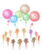 hands symbolize social networks