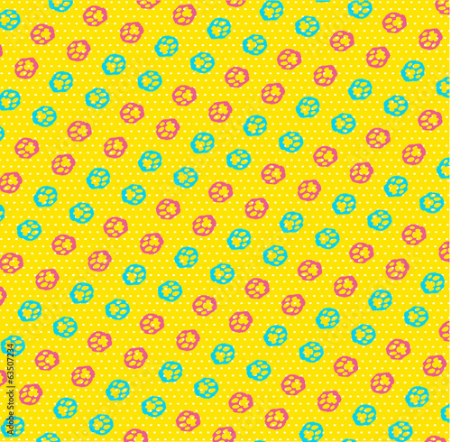 paw imprint vector seamless pattern