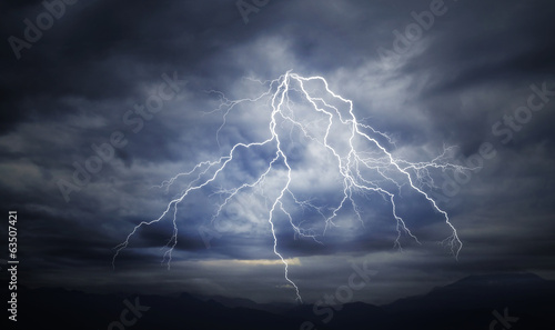 Foto op Canvas Nacht Great Thunderbolt