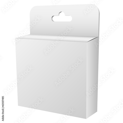 Blank white hanging retail box
