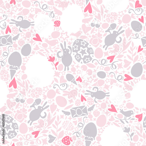Easter Seamless Pattern in Pastel Shades