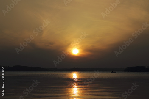 Sunset at Rutland Water.
