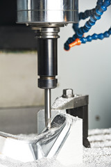 milling machine tool in work
