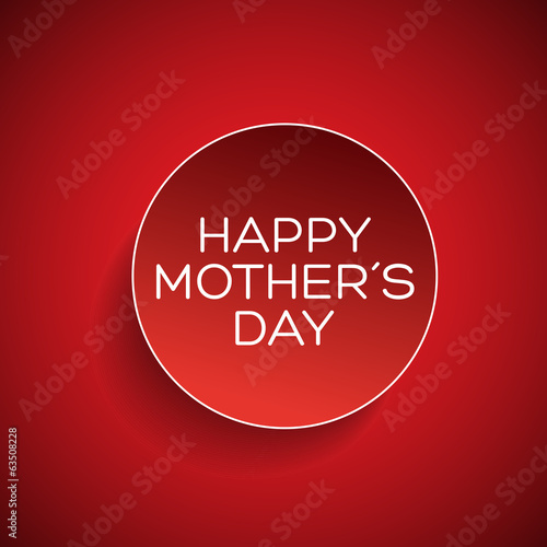 Happy mothers day badge