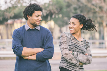 Mixed-Race Couple Outdoor Portrait