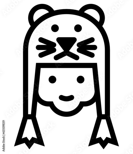 Kid vector outline icon
