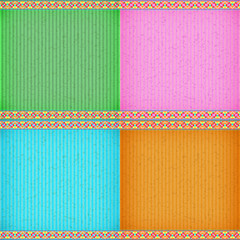 Colorful water lily card board texture