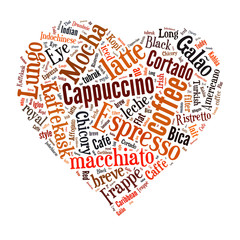 Coffee word cloud collage