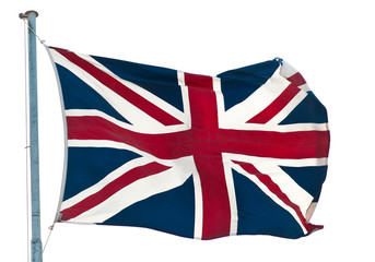 british  flag and pole