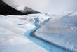 River in Perito Merino Glacier in Patagonia