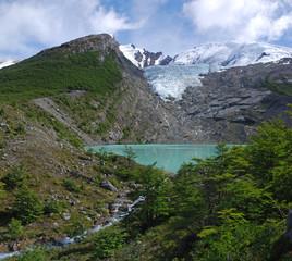 Lake & Glacier Huemul in Patagonia
