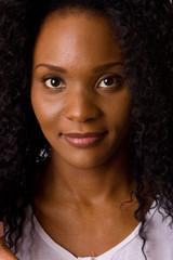 headshot of a beautiful young woman.