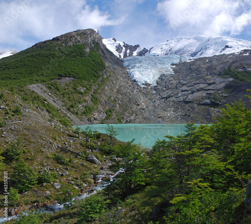 Lake & Glacier Huemul in Patagonia