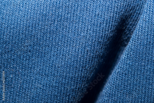background of blue fabric