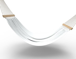 White Hammock Isolated Side View