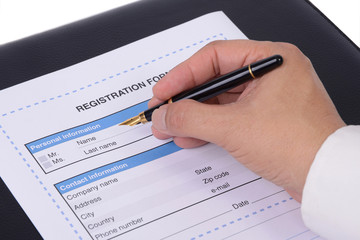 Registration information.