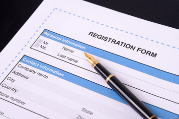 Blank registration form.