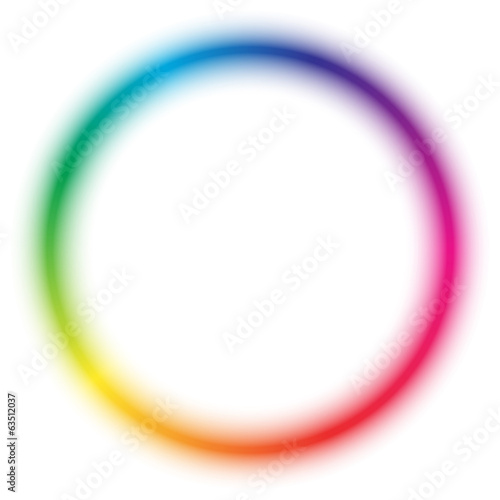 Radial rainbow pattern