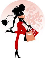 Shopping in leggins