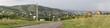 Panorama of resort Belokuriha. Altai. Russia.