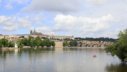 Charles Bridge and Prague Castle.