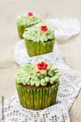 Easter colorful cupcakes