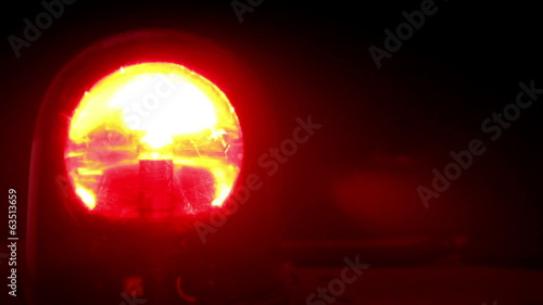 Red Flashing Emergency Light