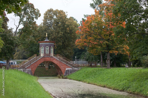 Alexander Park. Cross most.Tsarskoe village.
